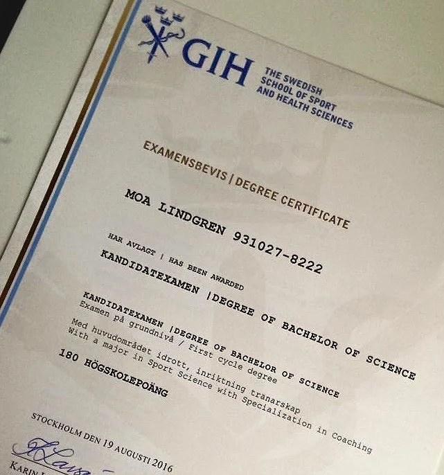 Examensbevis/Degree Certificate