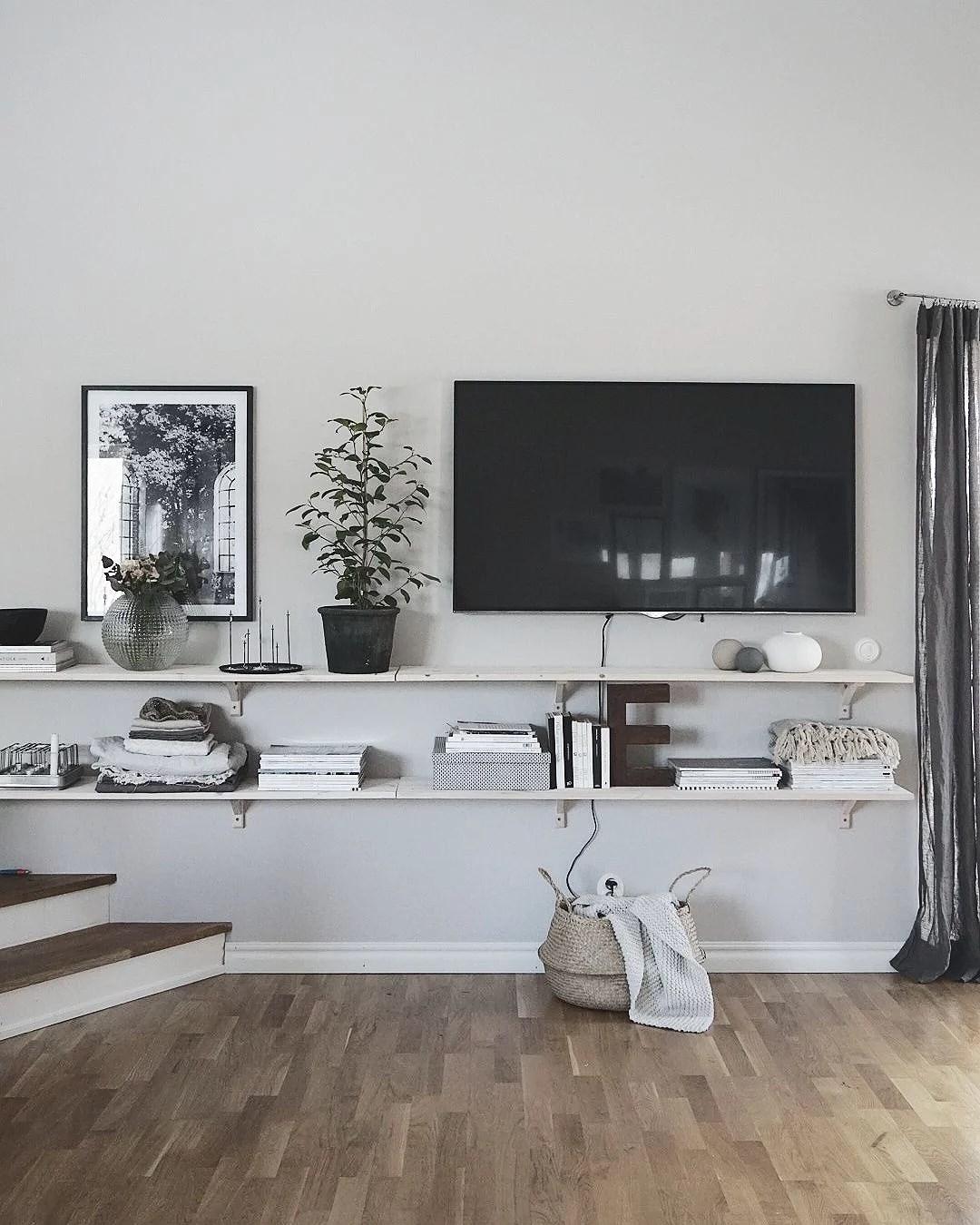 Vardagsrum och TV-lösning