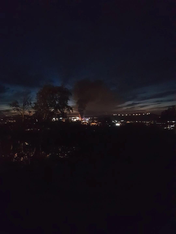 Bilder på branden igår