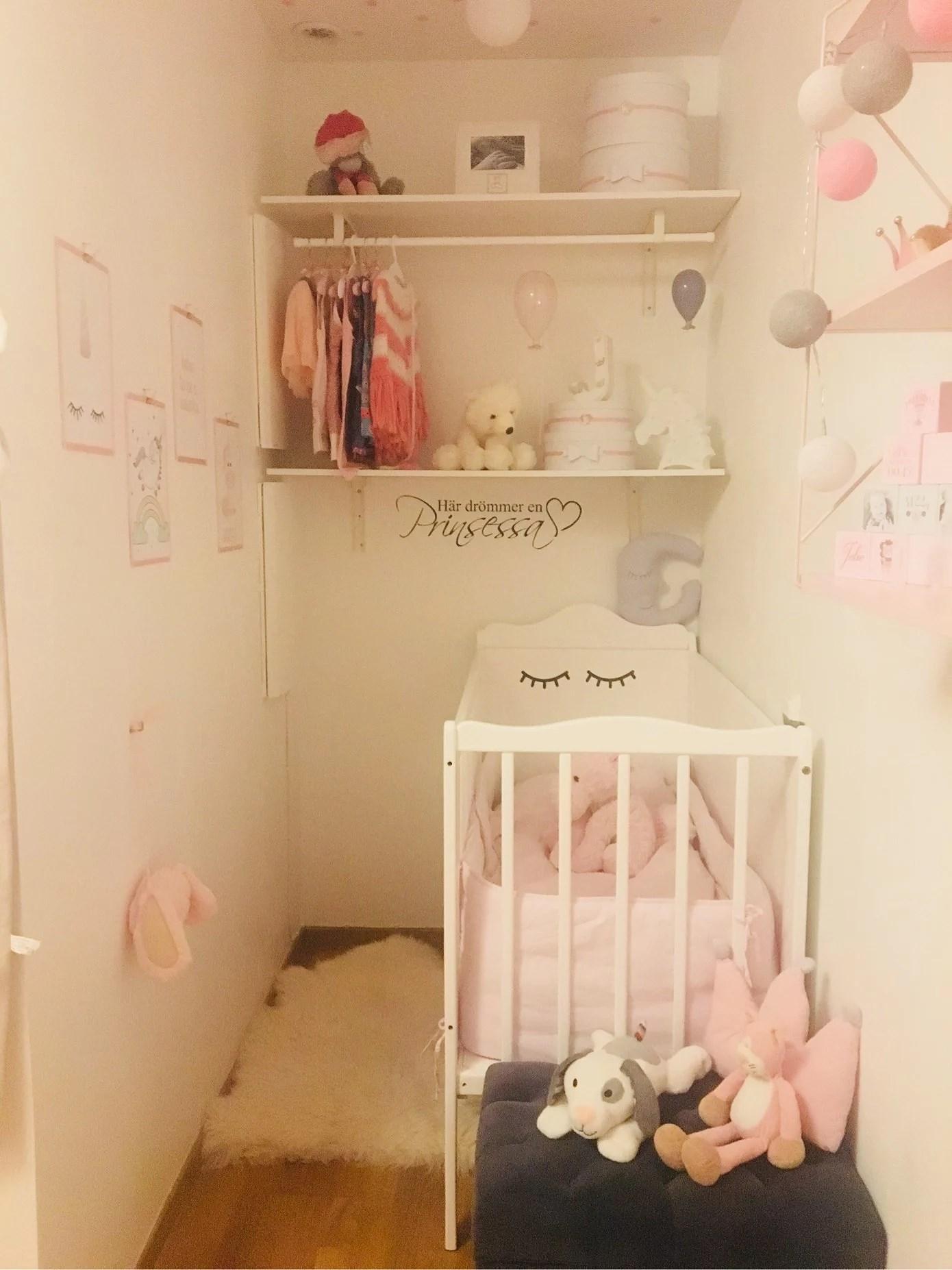 Prinsessans rum börjar att ta form💕