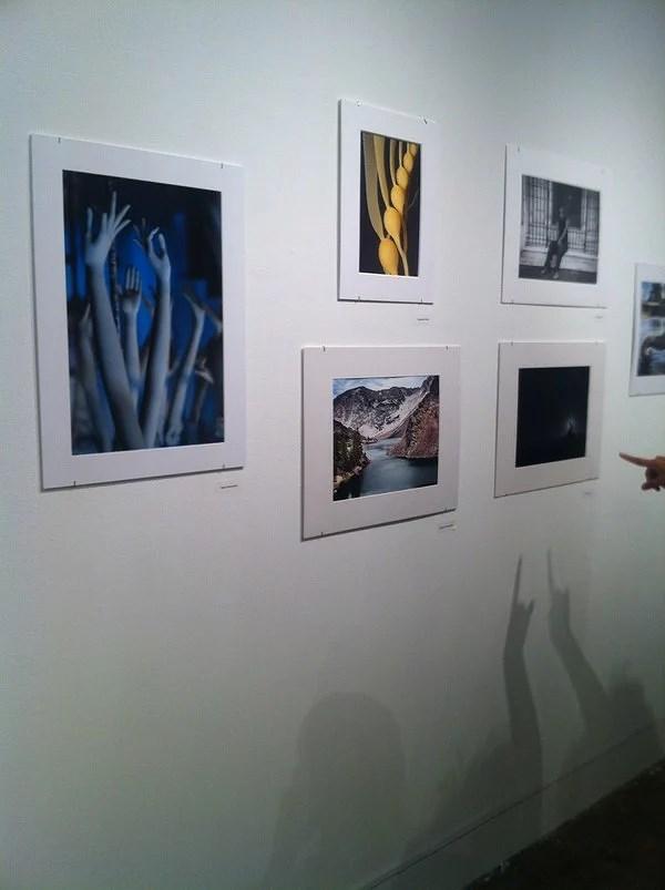 första utställningen