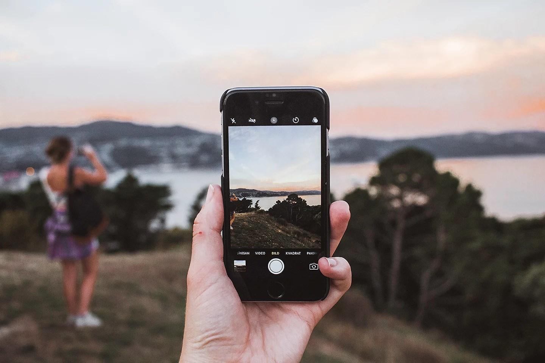 Solnedgång från Mount Victoria