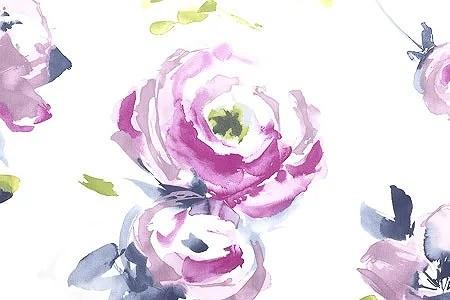 Vaxduk med rosa rosor