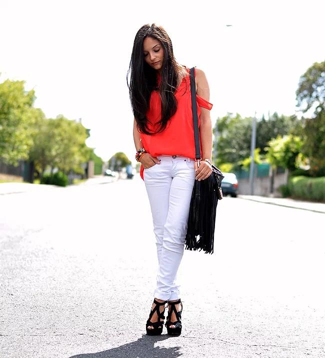 White pants...