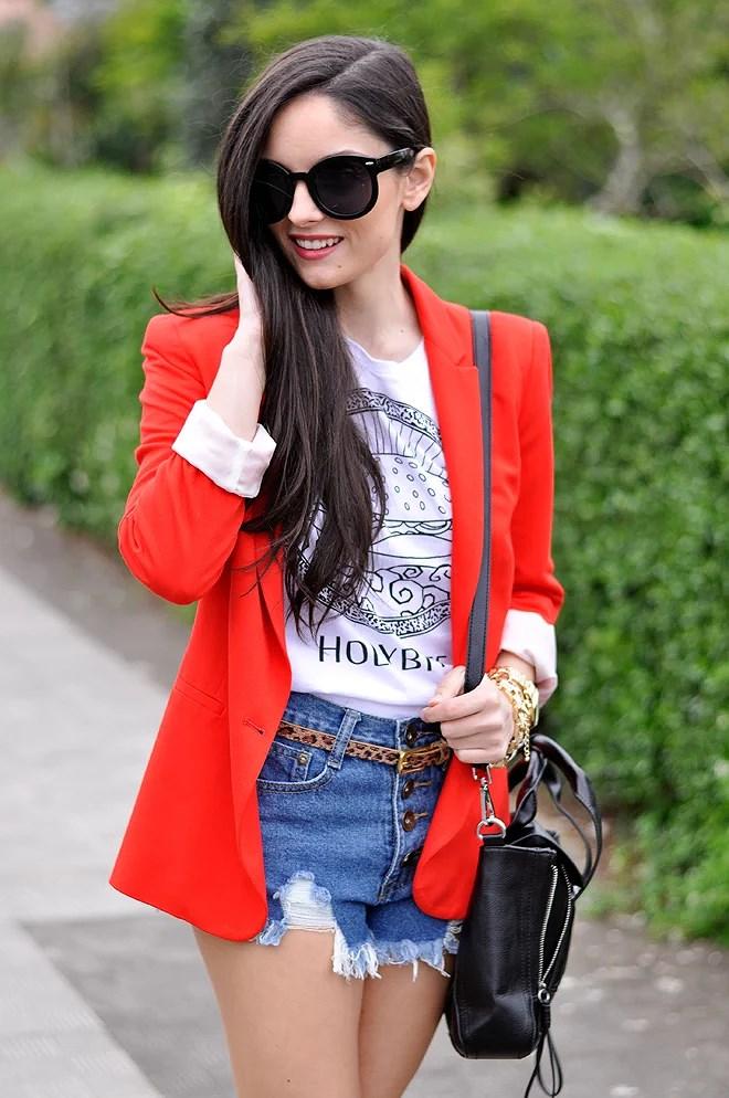 Red Zara Blazer_06