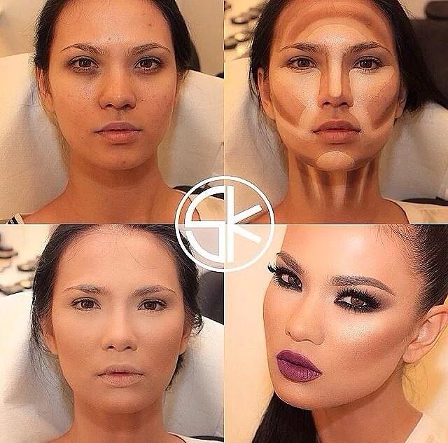 contour makeup before and after. helt sjukt dom ser ut som andra människor efter contouring · contour face makeup tutorials stunning before and after e
