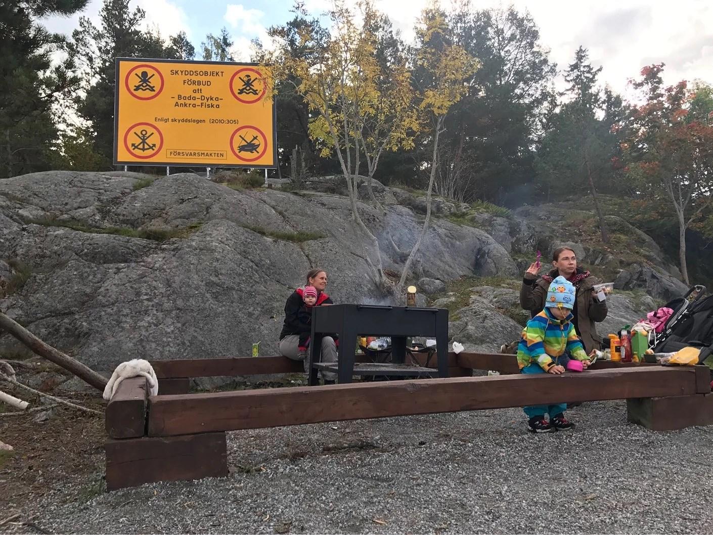 Grill på Rindö