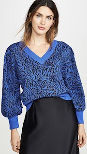 moon river sweater blue zebra